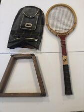 Vintage Harry C. Lee Dreadnought Driver Tennis Racquet Racket + Case & Bracket