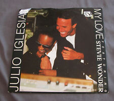 "Vinilo SG 7"" 45 rpm  JULIO IGLESIAS STEVIE WONDER - MY LOVE -  Record"