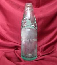1880 ANTIQUE BULGARIAN GLASS LEMONADE BOTTLE WITH SMALL GLASS BALL V. RARE!