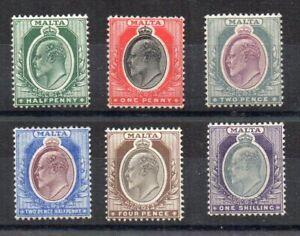 Malta 1903-04 values to 1s MH