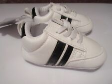 Romirus Baby Boys Sneakers Indoor Infant Shoes Soft Bottom 0-6 Mo Sz 1 Wht Black