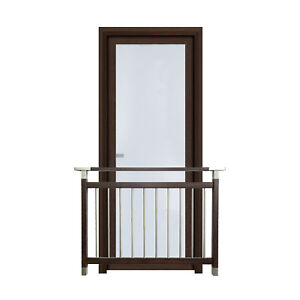 FELLO French Modern Juliet Balcony Security Stainless Steel Balustrades