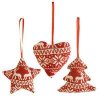 3pcs Christmas Tree Decoration Hanging Star Love Heart Home Xmas Party Ornaments