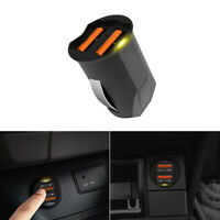 1x Portable Black 2 Ports 2.1A Mini Dual USB Car Charger Adapter Socket Lighter