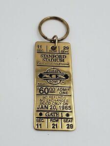 Vintage NFL Super Bowl XIX Key Ring Stanford Stadium Seat Ticket