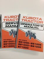 SERVICE MANUAL & OPERATORS MANUAL FOR KUBOTA B5100 B6100 B7100 TRACTOR LOT