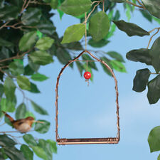 Shiny Copper Hummingbird Hanging Garden Flower Swing