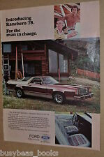 1978 Ford RANCHERO advertisement, cool old pickup truck-car, Ford ad