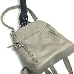 Miztique Handbag Shoulder Or Backpack Clutch Strap Multi Use Bag Taupe Satchel