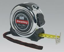 Sealey SMT8P Professional Measuring Tape 8M 26Ft Cushioned Grips Equipment