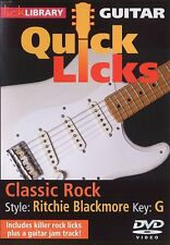 Lick Library QUICK LICKS CLASSIC ROCK Style RITCHIE BLACKMORE Guitar Video DVD