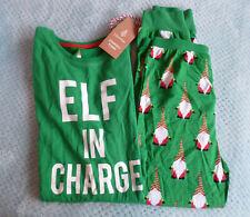 BNWT, Green, Lily & Dan Christmas Elf Pyjamas - Size 7-8 years