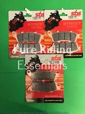 SBS 735 HS 736 LS HONDA CBR 1100 XX SUPER BLACKBIRD 1996-UPWARD FRONT+REAR PADS