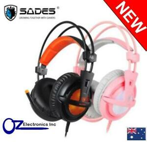 Sades A6 7.1ch Virtual Surround Gaming Headset LED USB PC PS4 PS5 NintendoSwitch