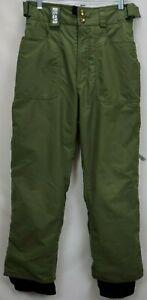 Burton Snowboard Ski Pants Mens Size XS Olive Green Bio Lite Cargo Snow Winter