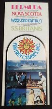 ss Britanis . Chandris Fantasy Cruises 1982 Deck Plan Bro. Ocean Liner Ship Boat
