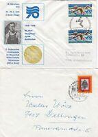 Berlin, 2 Briefe, Nr. 571 MeF und 385 EF