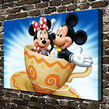 Disney mickey and Minnie Painting HD Print on Canvas Home Decor Wall Art Picture