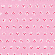 Moda Surrounded by Love Deb Strain Love Heart Flower Pink Fabric Fat Quarter