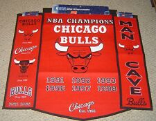 CHICAGO BULLS  DYNASTY - HERITAGE - MAN CAVE BANNER COLLECTION