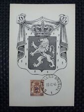 BELGIEN MK 1945 WAPPENLÖWE MAXIMUMKARTE CARTE MAXIMUM CARD MC CM a6664