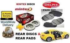 FOR MAZDA RX8 1.3i ROTARY 2003-2008 REAR BRAKE DISCS SET & BRAKE DISC PADS KIT