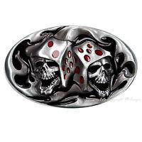 Crâne Gothique Poker parieur rockabilly Tête de Mort Boucle de ceinture 526