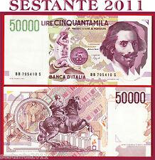 ITALY ITALIA 50.000 50000 LIRE BERNINI 1992 2° TIPO LETTERA B  P 116b QFDS/ AUNC