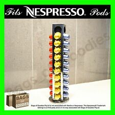 NESPRESSO Coffee Capsule Pod Holder Stand Dispenser Rotating Rack StainlessSteel