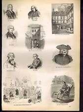 Royal Academicians-Sir Joshua Reynolds-Captain Coram -Old England-1890 Print