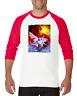 Raglan T-shirt 3/4 Sleeve Goth Horror Fantasy Myth Good Evil