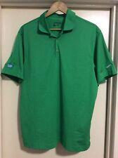 Nike Golf SAP Mens Polo Shirt  L New Green Tiger Woods Rory McIlroy PGA Masters
