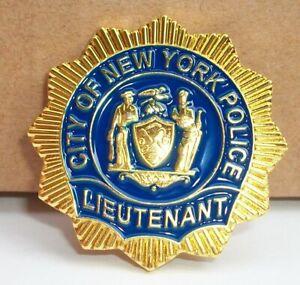 NYPD Police Lieutenant MINI badge shield LAPEL PIN not coin Lt