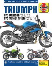 2006-2012 Triumph 675 Daytona & 2007-2016 675 Street Triple Repair Manual 9249