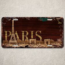 LP0181 Old Vintage France PARIS Sign Rustic Auto License Plate Home Gift Decor