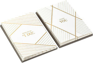 Hallmark Wedding Proposal and Wedding Party Thank You Card Set (10 Will You Be M