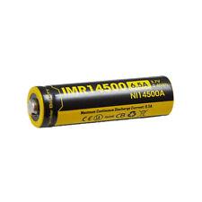 NITECORE IMR14500 650mAh Rechargeable Li-ion 14500 Battery for EA11, MT10A