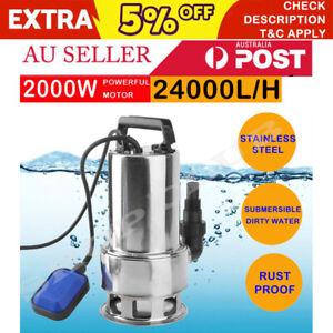 2000W Submersible Dirty Water Pump Bore Sewage Septic Tank Garden Sewerage Clean