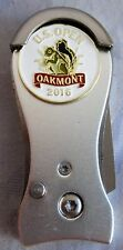 2016 US OPEN,OAKMONT,DOUBLE-SIDED, BALL MARKER & MAGNETIC SILVER SwitchBlade DT