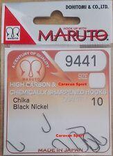 AMI PÊCHE 9441 BN TAILLE 4.5 MARUTO NOIR NICKEL A À PALETTE JAPON HAMEÇONS