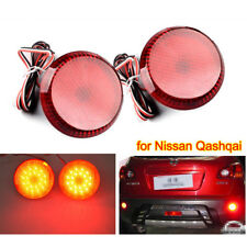 2x LED RED Fog Light Rear Bumper Reflector Brake for NISSAN QASHQAI 07-15 JUKE