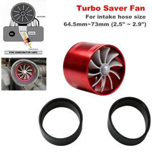 "Air Intake Turbonator Single Fan Gas Fuel Saver Turbo Supercharger 2.5"" ~ 2.9"""