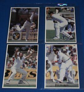 1981 Scanlens Superstars of Cricket Jumbo Cards Full Set of 18 NM/Mint