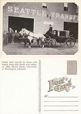 HORSE & WAGON SEATTLE c 1905 REPRODUCTION POSTCARD