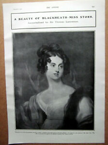 1905 MISS STORR A Beauty Of Blackheath Immortalised By Sir Thomas Lawrence