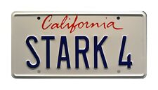 Iron Man | Tony Stark's Audi R8 | STARK 4 | STAMPED Replica Prop License Plate