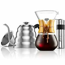 Mitbak Pour Over Coffee Maker Set Kit Includes 40 Oz Gooseneck Kettle With