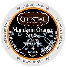 Celestial Seasonings K-Cup Portion Tea - Mandarin Orange Spice Herbal, 96 Ct