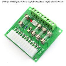 24/20pin ATX Computer PC Power Supply Breakout Board Adapter Extension Module EW