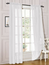Decotex 54 x 84 inch Sheer Voile Curtain Panel Drape Set - White